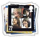 <p>La copertina di un album dei Beatles. FOR EDITORIAL USE ONLY REUTERS/Royal Mail/Handout (BRITAIN)</p>