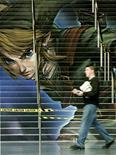 <p>Un pannello al salone dell'elettronica E3 a Los Angeles nel 2005. REUTERS/Sam Mircovich</p>
