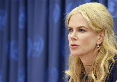 Actress Nicole Kidman speaks during a news conference at the United Nations Headquarters in New York in this April 22, 2008 file photo. REUTERS/Brendan McDermid