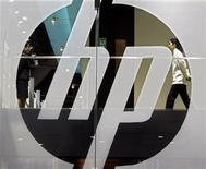 <p>Il logo delle Hewlett-Packard. REUTERS/Paul Yeung (CHINA)</p>