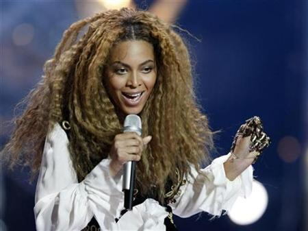 Singer Beyonce of the U.S. performs during the World Music Awards in Monte Carlo November 9, 2008. REUTERS/Eric Gaillard