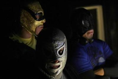 Masked Mexicans, ready to pounce