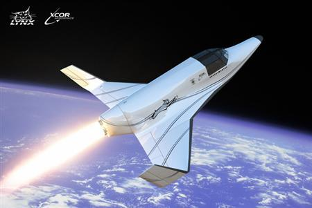 The Lynx Suborbital vehicle in an image courtyesy of XCOR Aerospace. REUTERS/Handout