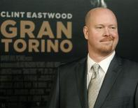 """<p>Nick Schenk, screenwriter of director Clint Eastwood's new film """"Gran Torino"""" poses at the film's world premiere at the Warner Bros. studio lot in Burbank, California December 9, 2008. REUTERS/Fred Prouser</p>"""