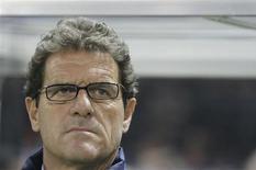 <p>O técnico da seleção inglesa de futebol, Fabio Capello, disse que seu principal desafio, e também seu maior sucesso, no primeiro ano à frente da equipe foi mudar a mentalidade dos jogadores. REUTERS/Christian Charisius</p>
