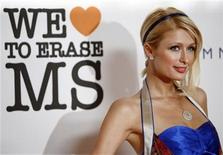 <p>Paris Hilton poses at the 15th annual Race to Erase MS gala in Century City, California May 2, 2008. REUTERS/Mario Anzuoni</p>