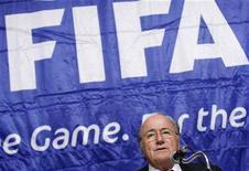 <p>Il presidente della Fifa Sepp Blatter. REUTERS/Issei Kato (JAPAN)</p>