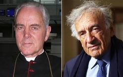 <p>Il vescovo britannico Richard Williamson (immagine a sinistra)e il premio Nobel Elie Wiesel (immagine a destra). REUTERS/Jens Falk/Jeff Christiansen/Files</p>