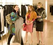"""<p>Kristin Scott Thomas, Isla Fisher and Leslie Bibb in a scene from """"Confessions of a Shopaholic"""". REUTERS/Touchstone Pictures/Handout</p>"""