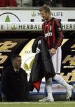 <p>Il calciatore David Beckham. REUTERS/Alessandro Garofalo. (ITALY)</p>