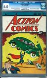 """<p>A rare copy of Action Comics #1 is seen in a handout photo from Metropolis Comics. Action Comics #1,"""" published in June 1938, is considered by collectible experts to be the world's most valuable comic book and is valued at about $126,000. REUTERS/Metropolis Comics/Handout</p>"""
