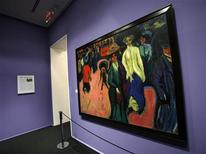 "<p>Ernst Ludwig Kirchner's 1908-1919 painting, ""Street, Dresden"" is displayed during a preview of the ""Brucke: The Birth of Expressionism in Dresden and Berlin, 1905-1913"" exhibition at the Neue Galerie in New York February 25, 2009. REUTERS/Shannon Stapleton</p>"
