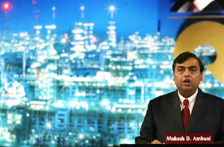 Reliance Industries Ltd Chairman Mukesh Ambani addresses shareholders during an annual general meeting in Mumbai in this August 3, 2005 file photo. REUTERS/Punit Paranjpe
