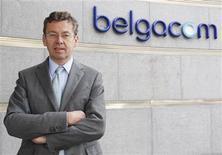 <p>Didier Bellens, administrateur délégué de Belgacom. Le principal opérateur télécoms belge a enregistré des résultats 2008 conformes aux attentes des analystes financiers mais s'attend à voir baisser son chiffre d'affaires et sa rentabilité cette année. /Photo prise le 19 septembre 2008/REUTERS/Thierry Roge</p>