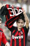 <p>Filippo Inzaghi festeggia il 300mo gol della sua carriera durante Siena-Milan, il 15 marzo 2009. REUTERS/Giampiero Sposito</p>