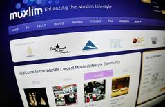 <p>The Muxlim webportal, which bills itself as the world's largest Muslim lifestyle community, is seen on a computer screen in Stockholm February 25, 2009. The website has seen visitor figures leap to 1.5 million hits monthly from 100,000 but that is just the beginning, the founder of the site said. REUTERS/Bob Strong</p>