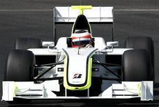 <p>Piloto brasileiro Rubens Barrichello no carro da Brawn GP. 16/03/2009. REUTERS/Marcelo del Pozo</p>