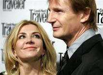 <p>Actress Natasha Richardson looks at her husband Liam Neeson as they arrive for the Conde Nast Traveler's annual readers choice award show in New York City in this file photo from October 16, 2006. REUTERS/Lucas Jackson</p>