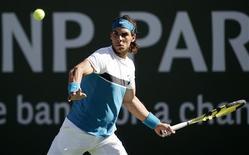 <p>Tenista Rafael Nadal durante o torneio final de Indian Wells. 22/03/2009. REUTERS/Michael Fiala</p>