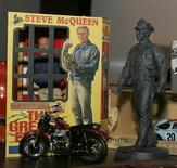 """<p>A exhibit at the Petersen Automotive Musuem in Los Angeles titled """"Steve McQueen The Legend and the Cars"""" is shown during a press preview September 23, 2005. REUTERS/Fred Prouser</p>"""