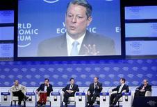 <p>Il premio Nobel e vice presidente Usa Al Gore al World Economic Foruma a Davos. REUTERS/Pascal Lauener</p>