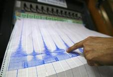 <p>Immagine d'archivio di un sismografo. REUTERS/Nicky Loh (TAIWAN)</p>