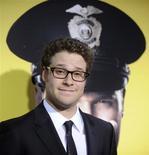 """<p>Seth Rogen, integrante do elenco do """"Observe and Report"""", na estreia em Los Angeles. 06/04/2009. REUTERS/Phil McCarten</p>"""