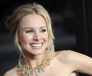 """<p>Kristen Bell poses at the premiere of the film """"Forgetting Sarah Marshall"""" in Los Angeles April 10, 2008. REUTERS/Chris Pizzello</p>"""