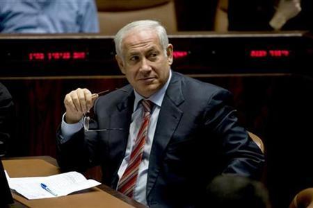 Israel's Prime Minister Benjamin Netanyahu attends a session of the Knesset, the Israeli parliament, in Jerusalem April 6, 2009. REUTERS/Baz Ratner