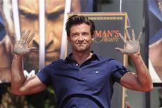 <p>Ator Hugh Jackman em cerimônia em Hollywood. 21/04/2009. REUTERS/Phil McCarten</p>
