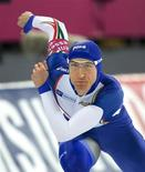 <p>Enrico Fabris, campione olimpico di pattinaggio di velocità sul ghiaccio. REUTERS/Bjoern Sigurdsoen/Scanpix Norway (NORWAY) NO COMMERCIAL SALES. NORWAY OUT. NO COMMERCIAL OR EDITORIAL SALES IN NORWAY. NO COMMERCIAL OR BOOK SALES.</p>