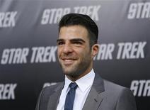 <p>L'attore Zachary Quinto alla premiere del nuovo film di Star Trek. REUTERS/Mario Anzuoni (UNITED STATES ENTERTAINMENT)</p>