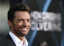 """<p>Hugh Jackman durante lançamento de """"X-Men Origens: Wolverine"""" em Hollywood, no dia 1o de maio. REUTERS/Mario Anzuoni</p>"""