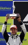 <p>Piloto da Brawn GP de Fórmula 1 brasileiro Rubens Barrichello no Grande Prêmio em Montmelo. 10/05/2009. REUTERS/Gustau Nacarino</p>