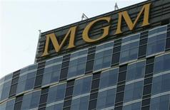 <p>The headquarters of the MGM movie studio is pictured in Los Angeles November 12, 2007. REUTERS/Fred Prouser</p>