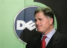 <p>Presidente da Dell, Michael Dell, faz pronunciamento à imprensa em Pequim, em março. A segunda maior marca mundial de computadores, quer tomar a liderança do mercado da Ásia em três anos se a economia se recuperar.</p>