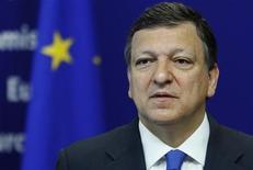 <p>Президент Еврокомиссии Жозе Мануэль Баррозу на пресс-конференции в Брюсселе 9 июня 2009 года.Президент Еврокомиссии Жозе Мануэль Баррозу намерен баллотироваться на второй срок. REUTERS/Francois Lenoir</p>