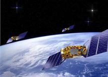 <p>L'Agence spatiale européenne a annoncé le lancement en 2010 et 2011 des quatre premiers satellites de Galileo, le système européen de navigation par satellite concurrent de l'américain GPS. /Image d'archives/REUTERS/ESA/J.Huart/HO</p>