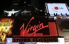 <p>Insegna del negozio Virgin di New York. REUTERS/Lucas Jackson (UNITED STATES BUSINESS MEDIA)</p>