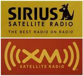 <p>The logos of Sirius Satellite Radio and XM Satellite Radio are shown at a Washington area electronics store February 20, 2007. REUTERS/Jason Reed</p>