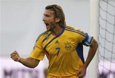 <p>Atacante do Chelsea Andriy Shevchenko em Zagreb. 06/06/2009. REUTERS/Nikola Solic</p>