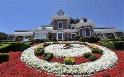 <p>A general view of the train station at Michael Jackson's Neverland Ranch in Los Olivos, California July 3, 2009. REUTERS/Phil Klein</p>