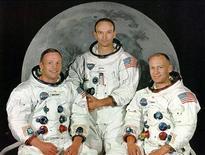 "<p>Архвиное фото экипажа космического корабля ""Аполлон""-11 Нил Армстронг (слева) Майкл Коллинз и Эдвин ""Базз"" Олдрин (справа)</p>"
