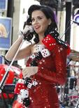 """<p>Singer Katy Perry performs on NBC's """"Today"""" show in New York July 24, 2009. REUTERS/Brendan McDermid</p>"""