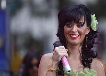 """<p>Singer Katy Perry performs on NBC's """"Today"""" show in New York, August 29, 2008. REUTERS/Brendan McDermid</p>"""