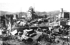<p>A view of Hiroshima after the atomic bombing on August 6, 1945. REUTERS/File</p>