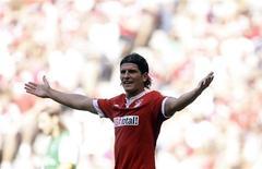 <p>Graças a um gol do atacante Mario Gómez, o Bayern de Munique evitou a derrota e somou seu segundo empate consecutivo ao ficar no 1 a 1, em casa, contra o Werder Bremen, pela segunda rodada do Campeonato Alemão. REUTERS/Michaela Rehle</p>