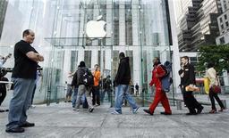 <p>L'Apple store sulla 5th Avenue a New York. REUTERS/Lucas Jackson</p>