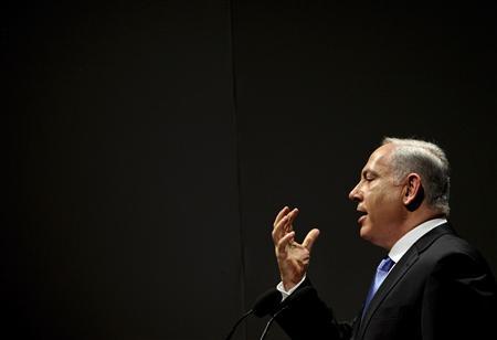Israel's Prime Minister Benjamin Netanyahu speaks at a financial conference in Tel Aviv September 8, 2009. REUTERS/Oded Balilty/Pool