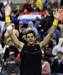 <p>Argentino Juan Martin Del Potro bate Cilic e vai à semifinal no Aberto dos EUA. REUTERS/David Gray</p>